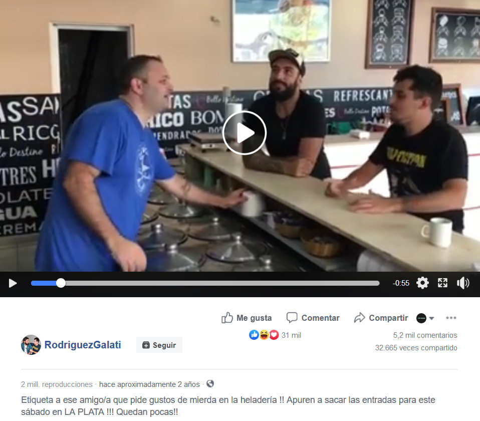 primer video viral rodriguez galati
